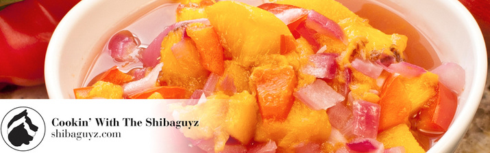 OMG Peach Salsa - Peach Salsa Recipe by the Shibaguyz